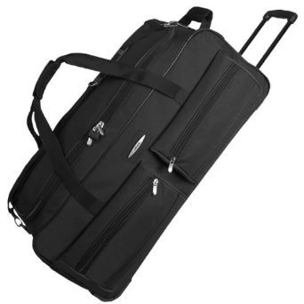 Jeep Extra Large 34 Inch Wheeled Holdall - 5 Years Warranty! (Black 34 Inch)