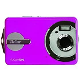 VIVITAR V5399-PNK 5.1 Megapixel ViviCam 5399 Waterproof Digital Camera (Pink)