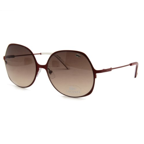 Lacoste L Satin Red Square Sunglasses 117S 615