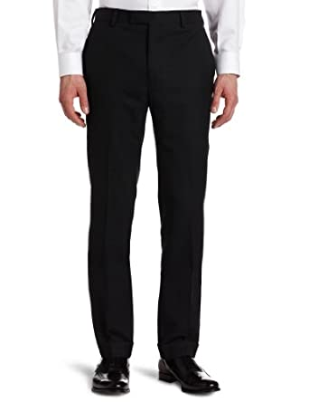 Louis Raphael Mens Flat Front Suit Separate Pant, Charcoal, 30x30