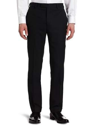 Louis Raphael Mens Flat Front Suit Separate Pant, Charcoal, 30x30