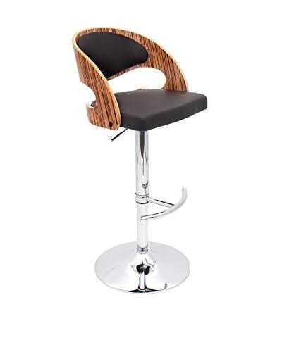 LumiSource Pino Bar Stool, Zebra/Brown