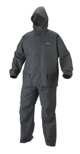 Coleman Mens 35mm PVC/Poly Rain Suit, Gray, X-Large
