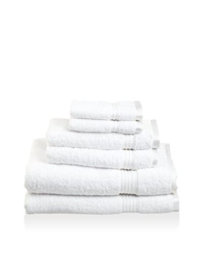 Superior 6-Piece 600 GSM Egyptian Cotton Towel Set, White