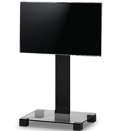 RO & Co p0890TN–TV-Ständer. Glas transparent Gehäuse/schwarz. Höhe 89cms.