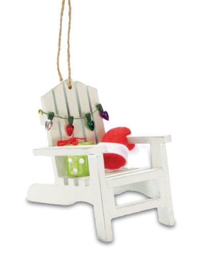 Tropical Beach Adirondack Chair Christmas Tree Ornament