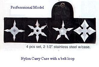 Ninja Throwers Pro Stars set of 4 with Carry Case