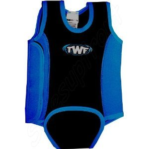 TWF BABY WETSUITS TODDLER WETSUITS WRAPS FOR SWIMMING SWIMSUIT 0-6 MONTH BLUE/BLACK