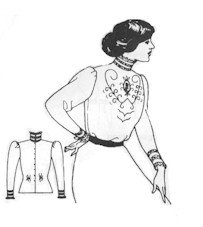 1890s-1905 Edwardian Gibson Girl Era Clothing Links 1910s Simple Edwardian Blouse Pattern $12.00 AT vintagedancer.com