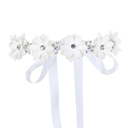 FAYBOX Flower Girls Elegant Headband Wedding Floral Hairbands Accessories