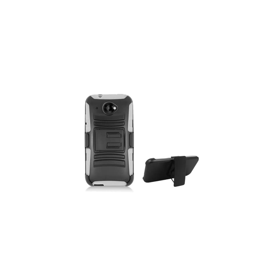 AIMO Xtreme Rugged Armor Case w/ Holster & Swivel Belt Clip Combination for HTC Zara / Desire 601 [Virgin Mobile] Cell Phones & Accessories
