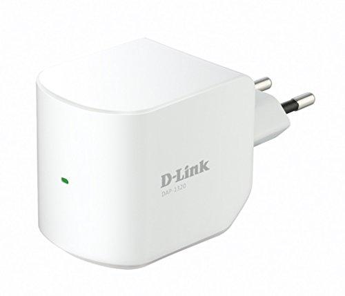 D-Link DAP-1320 Range Extender / Ripetitore Wireless Universale Tecnologia N300, Configurazione Semplice con Pulsante WPS, 2 Antenne Interne, Bianco