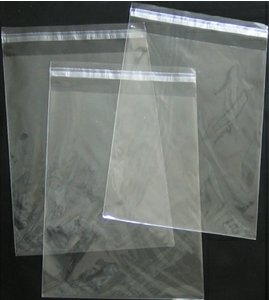 5in. X 7in. Flat Cellophane Bags with Adhesive Closure - pack of 100