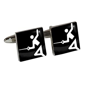 Athletic Event Cufflinks with Fencing design