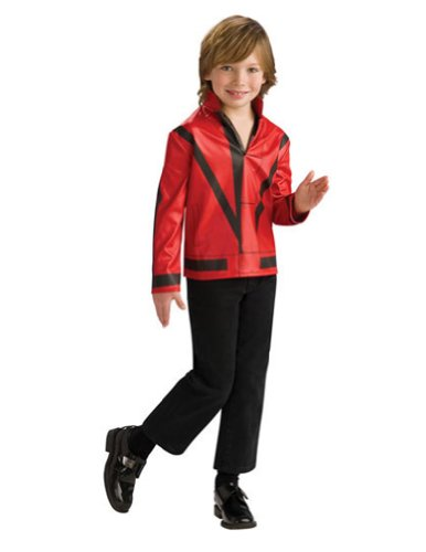 Michael Jackson Red Thriller Jacket Child Md Kids Boys Costume