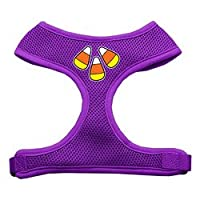 Candy Corn Design Soft Mesh Harnesses Purple Large