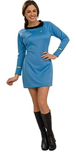 Rubie's Women's Star Trek Classic Deluxe Blue Dress, Medium