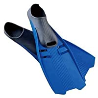 New Trident Full Foot Scuba Diving & Snorkeling Fins - Blue (Size 11-13/X-Large)