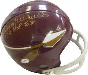 Bobby Mitchell Signed Washington Redskins 2bar Tb Mini
