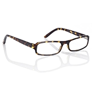 Rectangle Frame Amber Reading Glasses