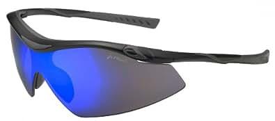 JiMarti Sunglasses TR22 Sport Wrap for Cycling, Ski or Golf Superlite TR90 Unbreakable (Black & Blue)