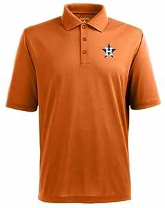 Houston Astros Pique Xtra Lite Polo Shirt (Cooperstown) by Antigua