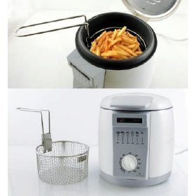1ltr small compact mini deep fat fryer. Black Bedroom Furniture Sets. Home Design Ideas