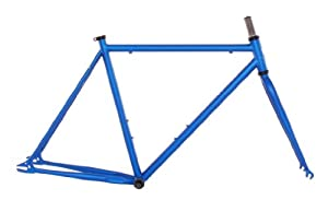 Vilano Chromoly Fixed Gear Track Road Bike Frame and Fork Set, Blue, 50cm/Small
