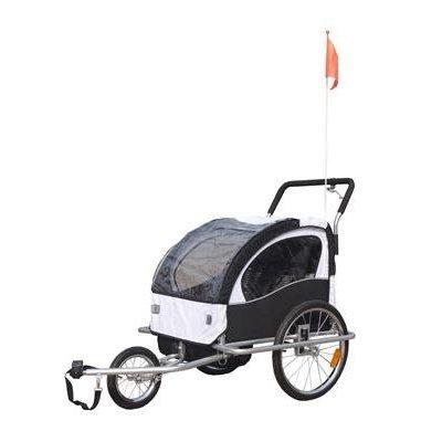 2-in-1-Jogger-Fahrradanhnger-Kinderwagen-Kinderanhnger-Fahrrad-Anhnger