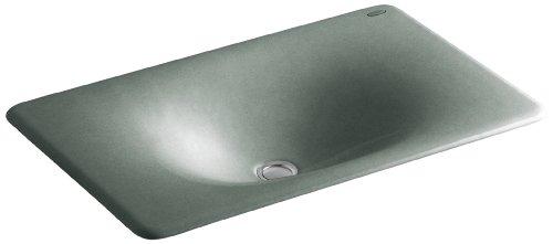 KOHLER K-2826-FT Iron/Tones Cast Iron Undercounter/Self-Rimming Bathroom Sink, 24-3/4