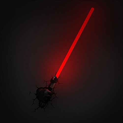 3D Light FX Star Wars Darth Vader Hand with Lightsaber 3D Deco LED Wall Light