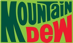 Ande Rooney Mountain Dew 1970's Logo Embossed Tin Sign