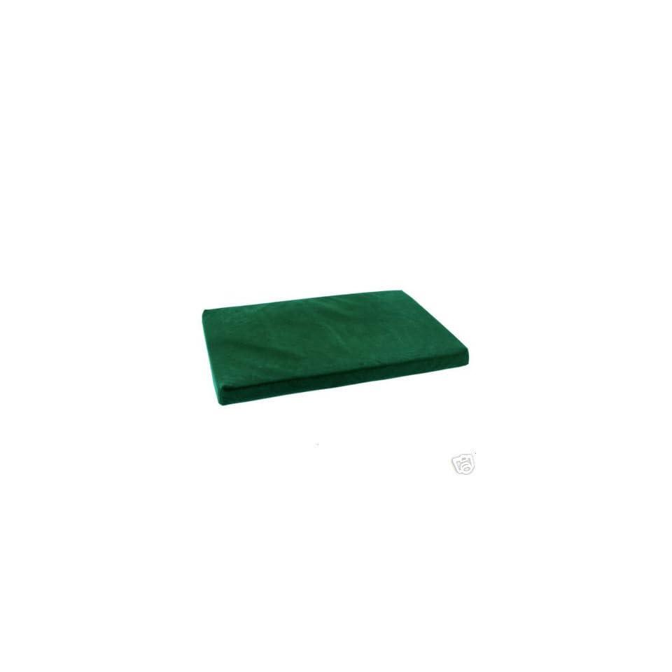 Slumber Pet Memory Foam Rectangle Dog Bed LARGE GREEN