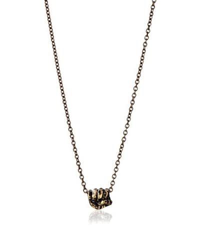 Ettika Silver Knuckle Charm Brass Chain Necklace