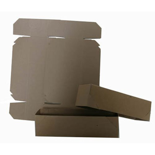 11x3x3 Full Lid Kraft Pinstripe Gift Box - Sold individually