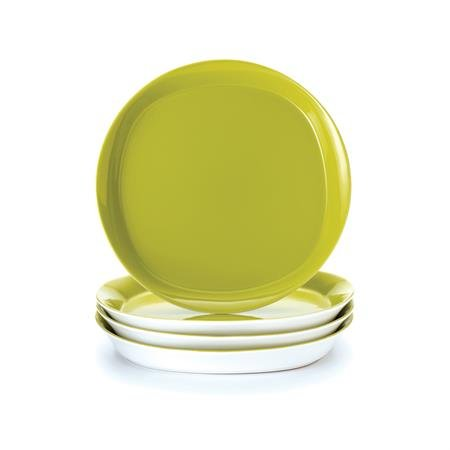 """Round And Square 12"""" Dinner Plate (Set Of 4) Color: Green Apple"""