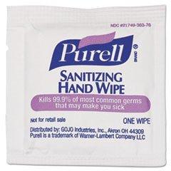 (3 Pack Value Bundle) GOJ90204M Sanitizing Hand Wipes 5 x 7 White Individually Wrapped