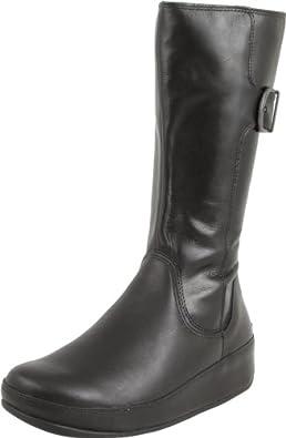 FitFlop Women's Hooper Tall Boot,Black,9 M US