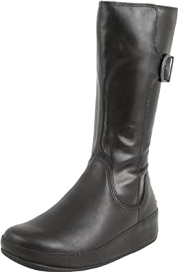 FitFlop Women's Hooper Tall Boot,Black,9 M US