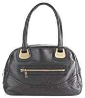 Michael Kors Saratoga Large Black Leather Satchel