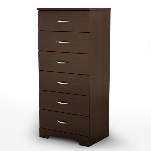 Great Features Of South Shore Step One Collection 6 Drawer Chest, Chocolate