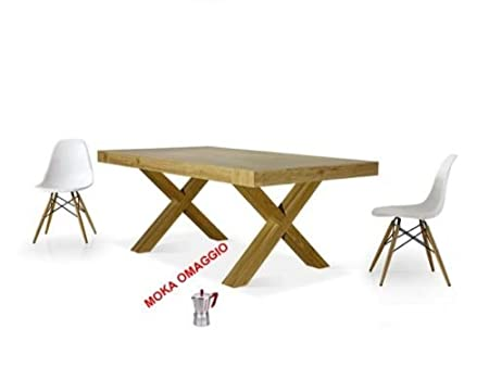 TABLES&CHAIRS tavolo allungabile rettangolare in rovere legno naturale 654 180x100x77