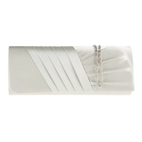 Accessorize-me New Ladies Satin Pleated Clutch Bag Handbag Bridal Bridesmaid Prom 10 Colour's