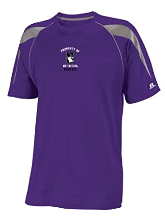 Buy NCAA Northwestern Wildcats Boys' Youth Dri-Power® Color Block Tee by Russell Athletic