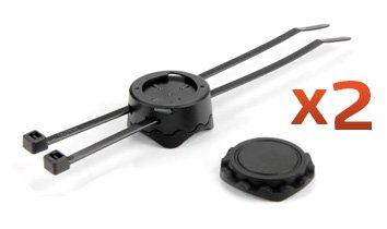 Mio 11560000 Pack de 2 supports vélo pour GPS Mio 300/305HC (Noir)