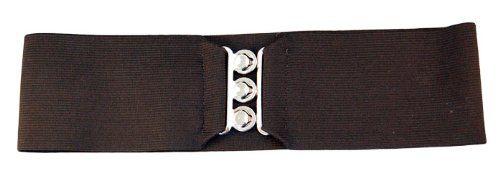 "50'S Adult 3"" Elastic Cinch Belt (S/M, Black)"