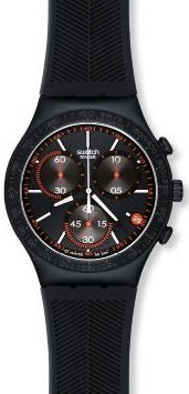 Swatch Irony Chrono Burning Eye Black Dial Unisex watch #YCB4012