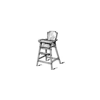 60s Era High Chair Plans (Woodworking Project Paper Plan)