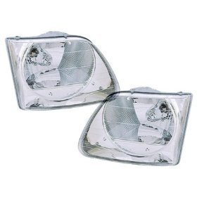 F150 F250/Expedition Lightning Model Headlights Driver/Passenger Pair New (1999 Ford F150 Lightning compare prices)