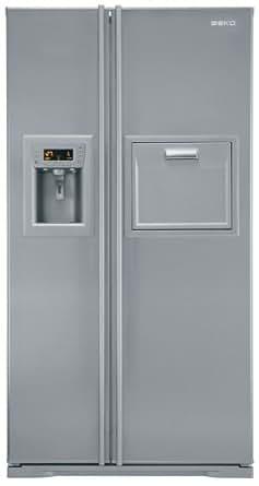 Beko GNE V422 X Side-by-Side-Kühlgerät / A+ / 177.5 cm Höhe / 443 kWh/Jahr / 364 L Kühlteil / 150 L Gefrierteil / Edelstahl / Festwasseranschluss